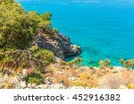 beautiful turquoise water of... | Shutterstock . vector #452916382