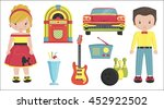 collection of vintage retro... | Shutterstock .eps vector #452922502