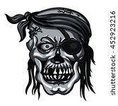 danger pirate skull in bandanna ... | Shutterstock .eps vector #452923216