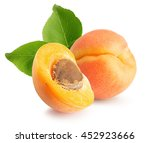 apricots isolated on the white... | Shutterstock . vector #452923666