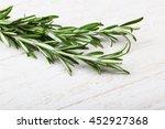 fresh green rosemary plant on...   Shutterstock . vector #452927368