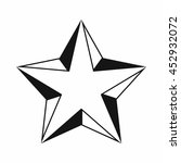 star icon in simple style... | Shutterstock .eps vector #452932072