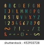 handwritten bold grunge font... | Shutterstock . vector #452933728