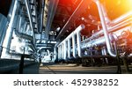 industrial zone  steel... | Shutterstock . vector #452938252