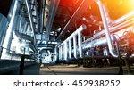industrial zone  steel... | Shutterstock . vector #452938252