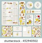 vector restaurant brochure ... | Shutterstock .eps vector #452940502