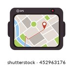 flat design gps device icon... | Shutterstock .eps vector #452963176