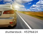 the car on highway | Shutterstock . vector #45296614