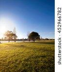 Small photo of Summer morning in Albert Park Lake Melbourne, Australia.