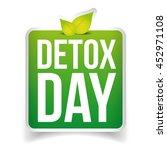 detox day button green vector   Shutterstock .eps vector #452971108