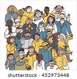 crowd of people set | Shutterstock . vector #452973448
