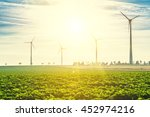 wind turbines   renewable... | Shutterstock . vector #452974216