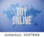 buy online world map sign...   Shutterstock . vector #452978308