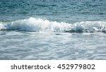 beautiful sky sea stone and...   Shutterstock . vector #452979802