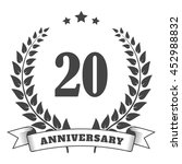 anniversary vintage badge and... | Shutterstock .eps vector #452988832