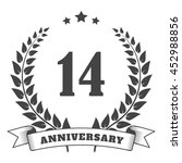 anniversary vintage badge and... | Shutterstock .eps vector #452988856