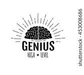 genius brain in rays logo  ... | Shutterstock .eps vector #453008686