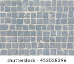 grey cobblestone sidewalk made... | Shutterstock . vector #453028396