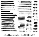 set of different grunge brush... | Shutterstock . vector #453030592