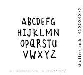 alphabet   number   handwriting ... | Shutterstock .eps vector #453034372