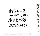 alphabet   number   handwriting ... | Shutterstock .eps vector #453036442