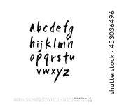 alphabet   number   handwriting ... | Shutterstock .eps vector #453036496