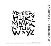 alphabet   number   handwriting ... | Shutterstock .eps vector #453038428
