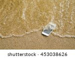 lost phone.phone fell disappear ... | Shutterstock . vector #453038626