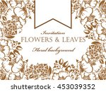 invitation with floral... | Shutterstock .eps vector #453039352