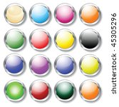 glossy buttons for web   Shutterstock .eps vector #45305296