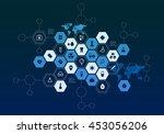 nanotechnology medicine concept ... | Shutterstock . vector #453056206