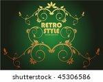 vintage frame | Shutterstock .eps vector #45306586