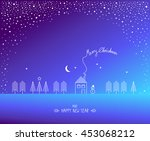 template for christmas design | Shutterstock .eps vector #453068212