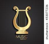 golden lyre   music theme icon  ... | Shutterstock .eps vector #453077236