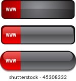 www   web buttons. vector... | Shutterstock .eps vector #45308332
