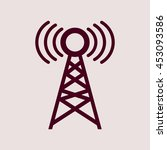 purple icon of network tower.... | Shutterstock .eps vector #453093586