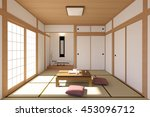 Japanese Living Room Interior...