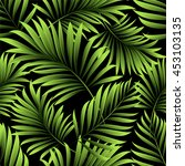 seamless pattern with tropical  ... | Shutterstock .eps vector #453103135
