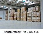 Stack Of Carton At Logistics...