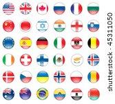 vector set of world flags  usa  ... | Shutterstock .eps vector #45311050