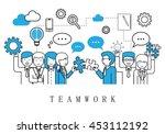 teamwork  people team   on... | Shutterstock .eps vector #453112192