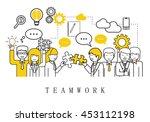 teamwork  people team   on...   Shutterstock .eps vector #453112198