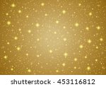 sparkling twinkling stars on... | Shutterstock .eps vector #453116812