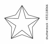 star icon in outline style... | Shutterstock .eps vector #453118066