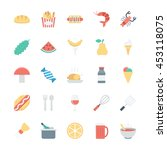 food colored vector icons 2 | Shutterstock .eps vector #453118075