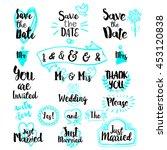 vintage decorative lettering...   Shutterstock .eps vector #453120838