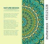 vector mandala decor for your... | Shutterstock .eps vector #453121228