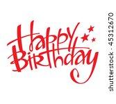 happy birthday | Shutterstock .eps vector #45312670