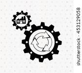 ecological plant design  vector ...   Shutterstock .eps vector #453129058