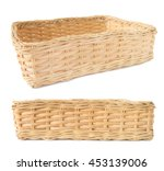 Empty Wicker Basket Isolated...